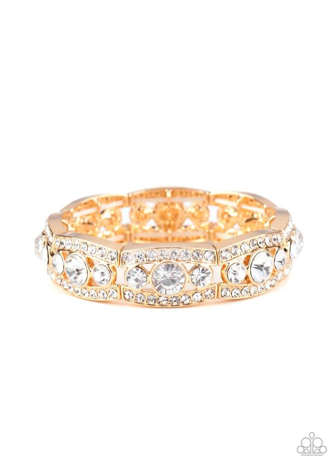 Easy On The ICE - Gold - Paparazzi Bracelet Image
