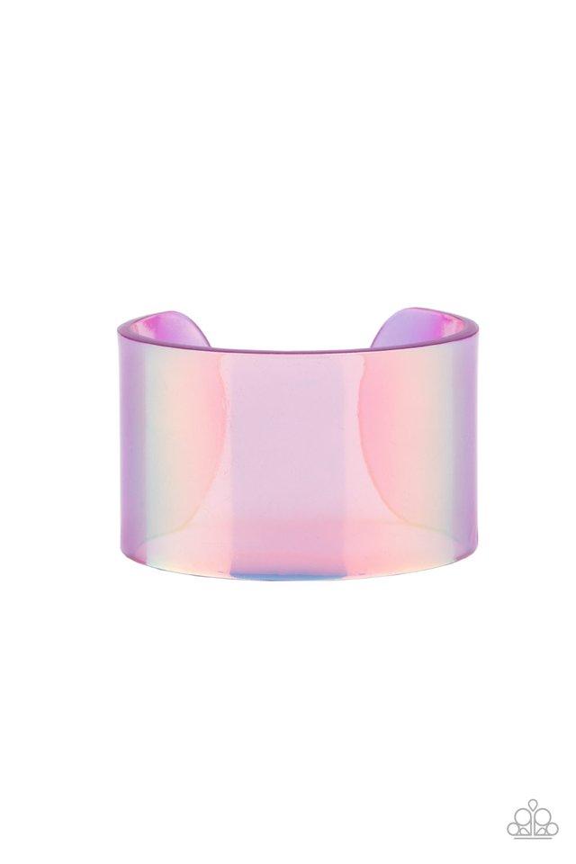 Holographic Aura - Purple - Paparazzi Bracelet Image