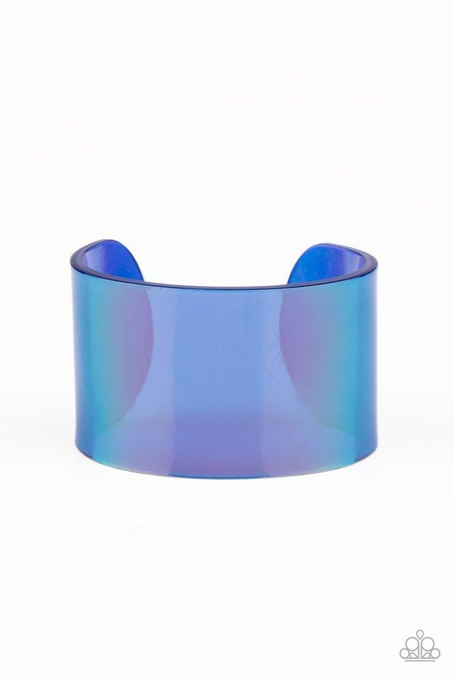 Holographic Aura - Blue - Paparazzi Bracelet Image
