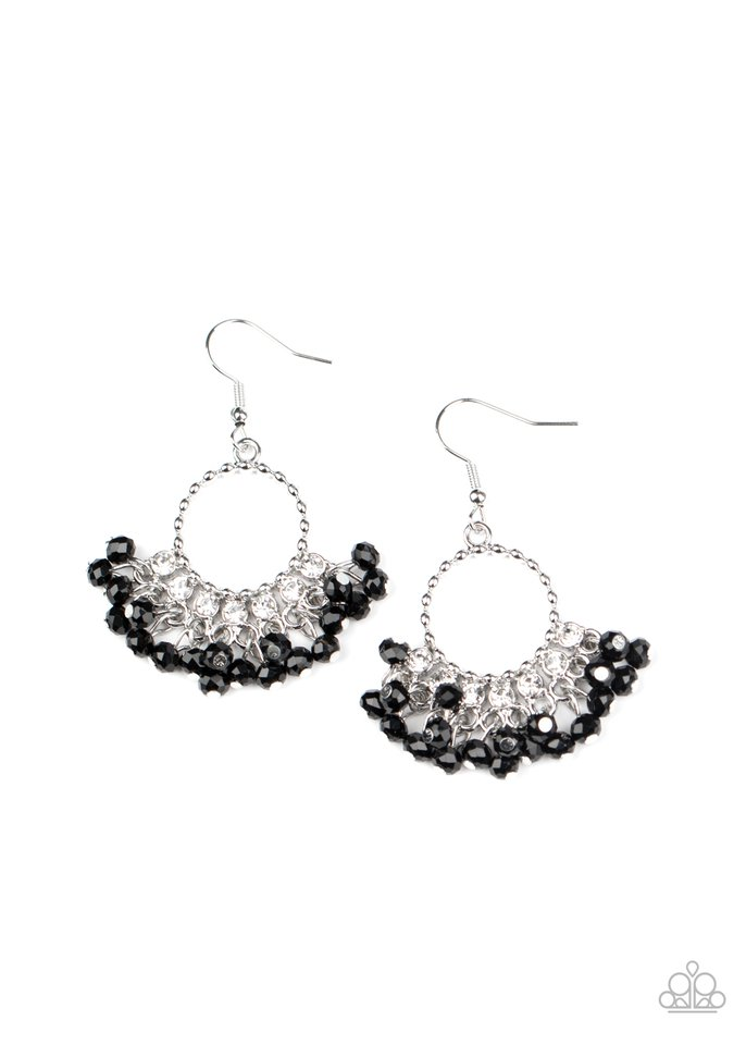 Charmingly Cabaret - Black - Paparazzi Earring Image