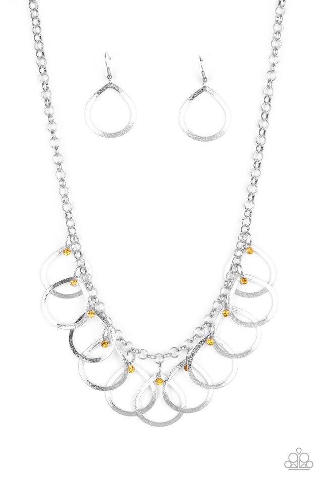Drop by Drop - Yellow - Paparazzi Necklace Image