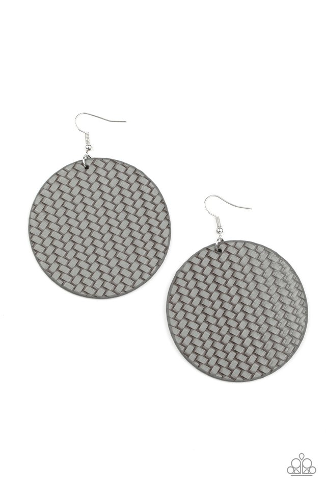 WEAVE Your Mark - Silver - Paparazzi Earring Image