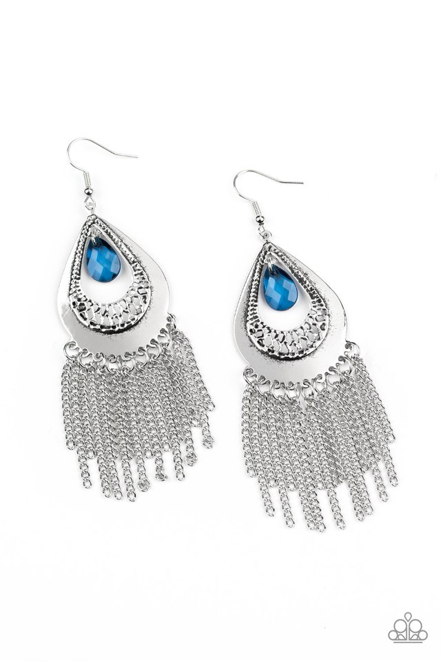 Scattered Storms - Blue - Paparazzi Earring Image