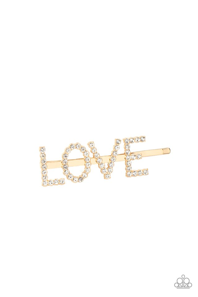 All You Need Is Love - Gold - Paparazzi Hair Accessories Image