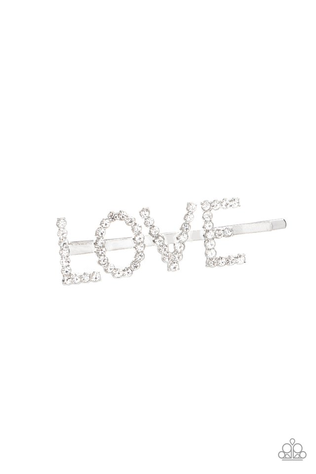 All You Need Is Love - White - Paparazzi Hair Accessories Image