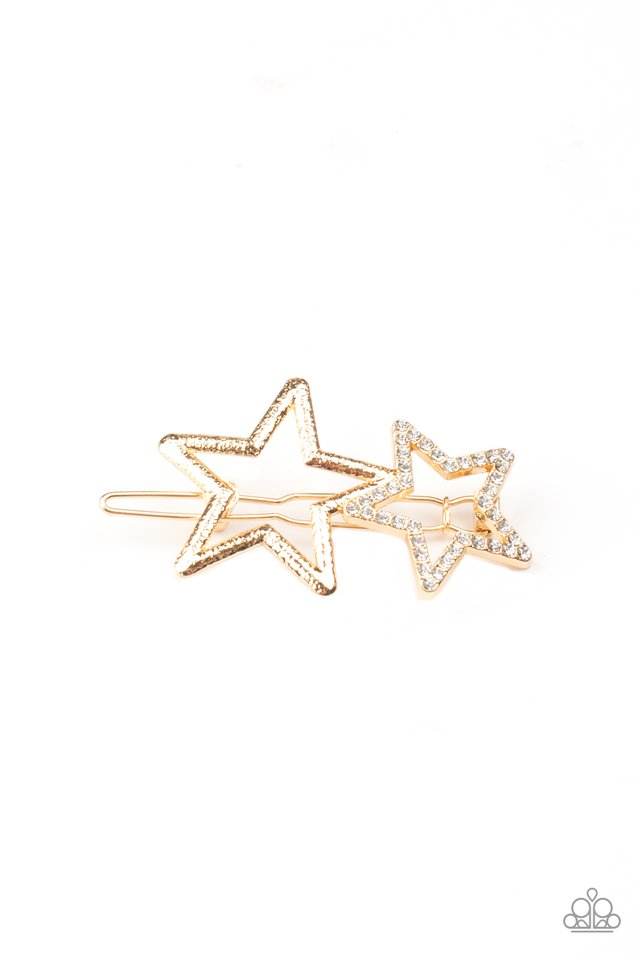 Lets Get This Party STAR-ted! - Gold - Paparazzi Hair Accessories Image