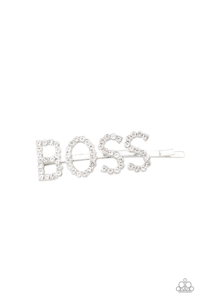 Yas Boss! - White - Paparazzi Hair Accessories Image