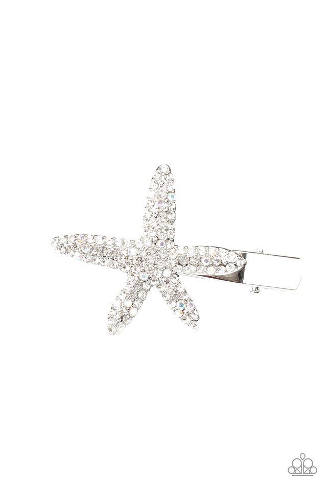 Wish On a STARFISH - White - Paparazzi Hair Accessories Image