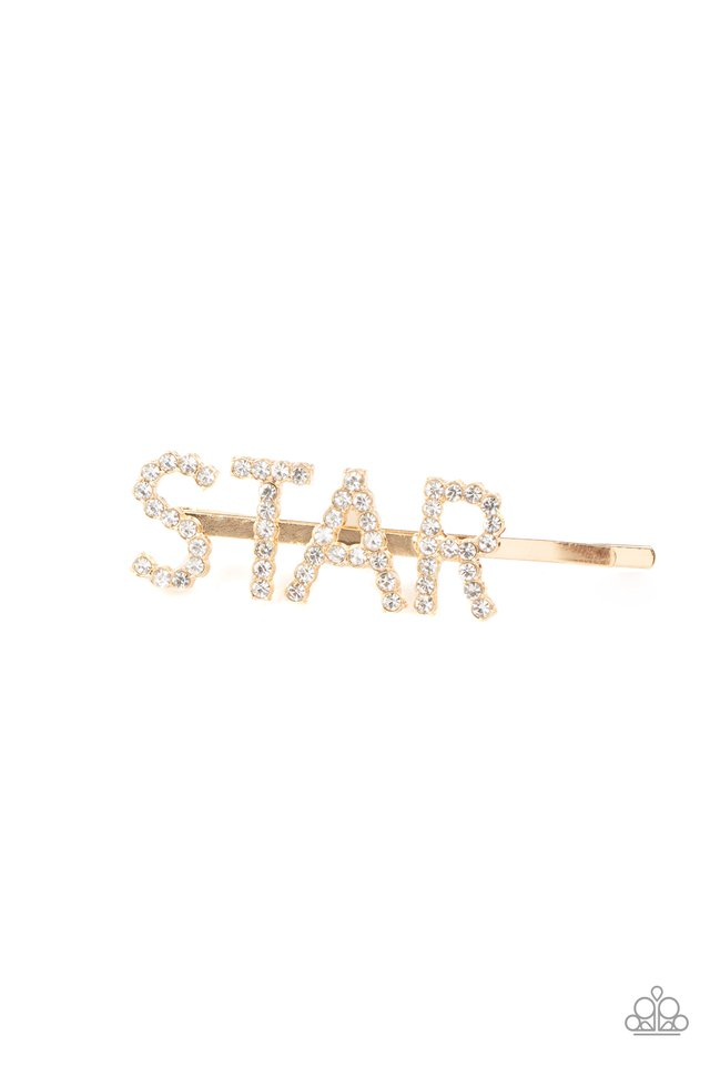 Star In Your Own Show - Gold - Paparazzi Hair Accessories Image