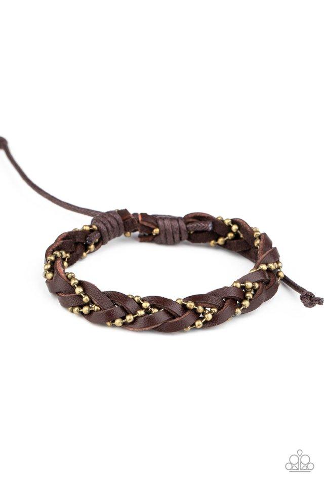 Cowboy Couture - Brown - Paparazzi Bracelet Image