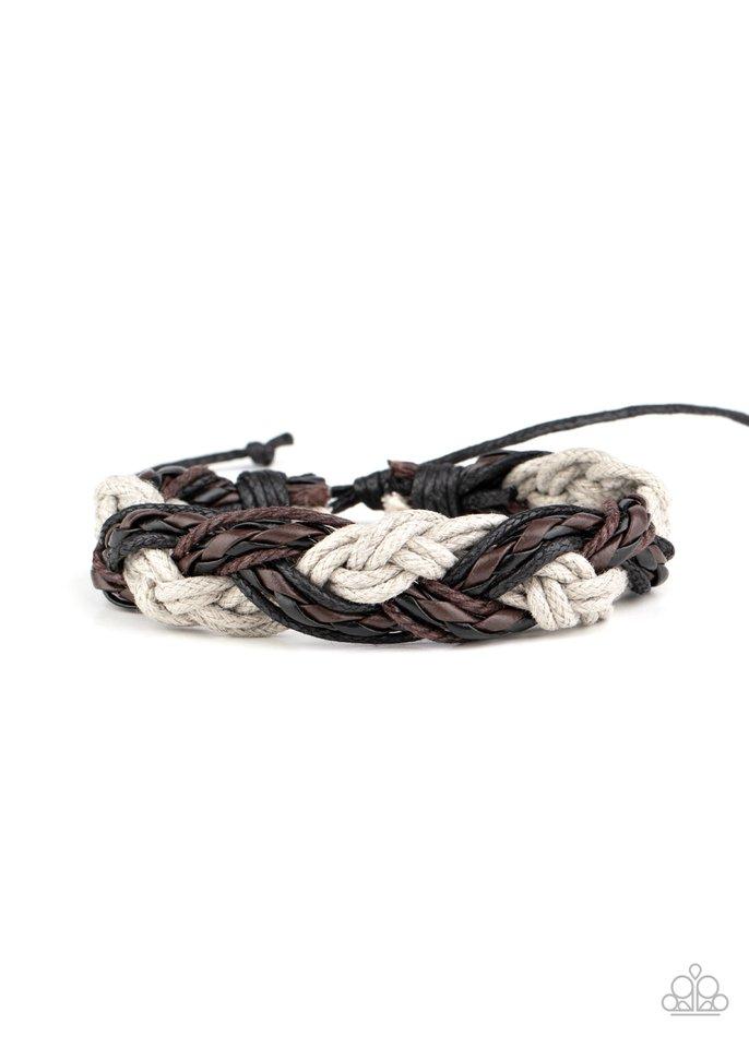 Badlands Wanderer - Silver - Paparazzi Bracelet Image