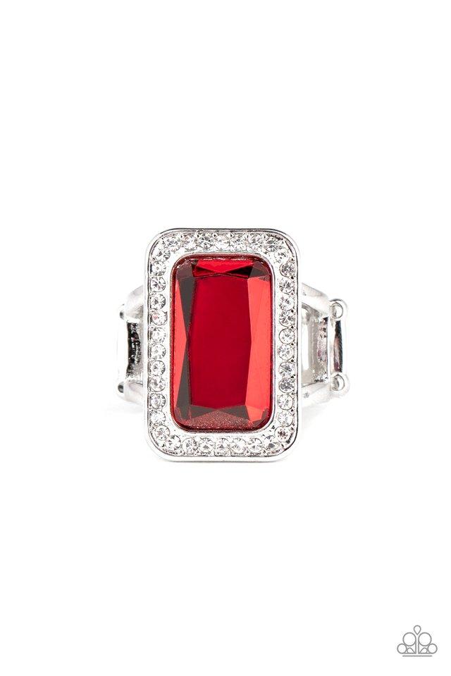 Crown Jewel Jubilee - Red - Paparazzi Ring Image