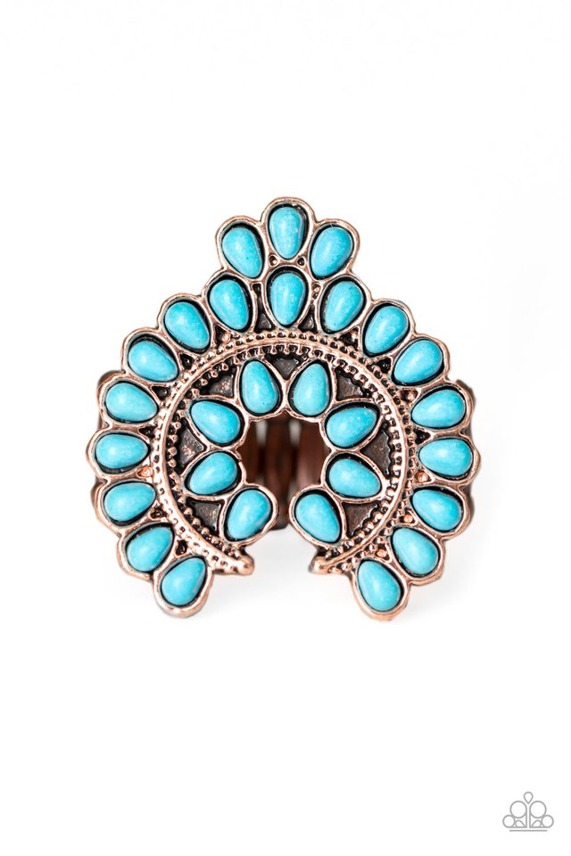Trendy Talisman - Copper - Paparazzi Ring Image