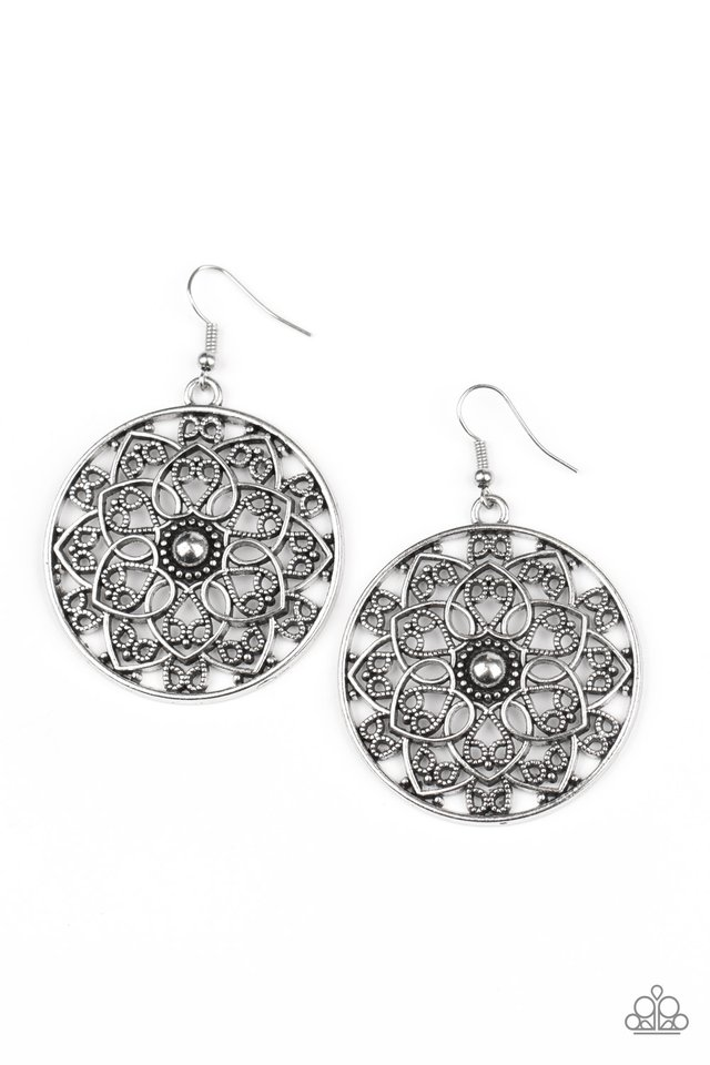 Petal Prana - Silver - Paparazzi Earring Image