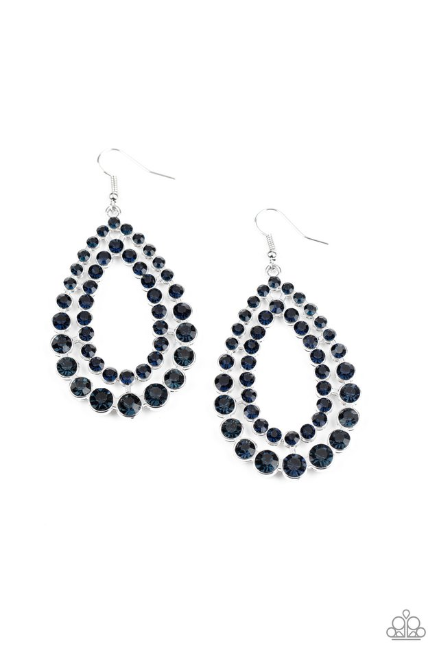 Glacial Glaze - Blue - Paparazzi Earring Image