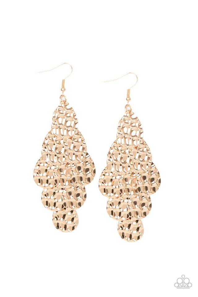 Instant Incandescence - Gold - Paparazzi Earring Image
