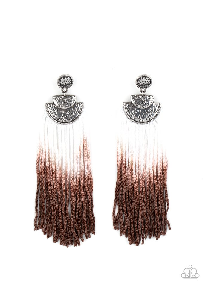 DIP It Up - Brown - Paparazzi Earring Image