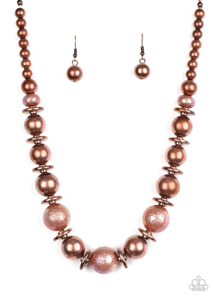 Twinkle Twinkle, Im The Star - Copper - Paparazzi Necklace Image