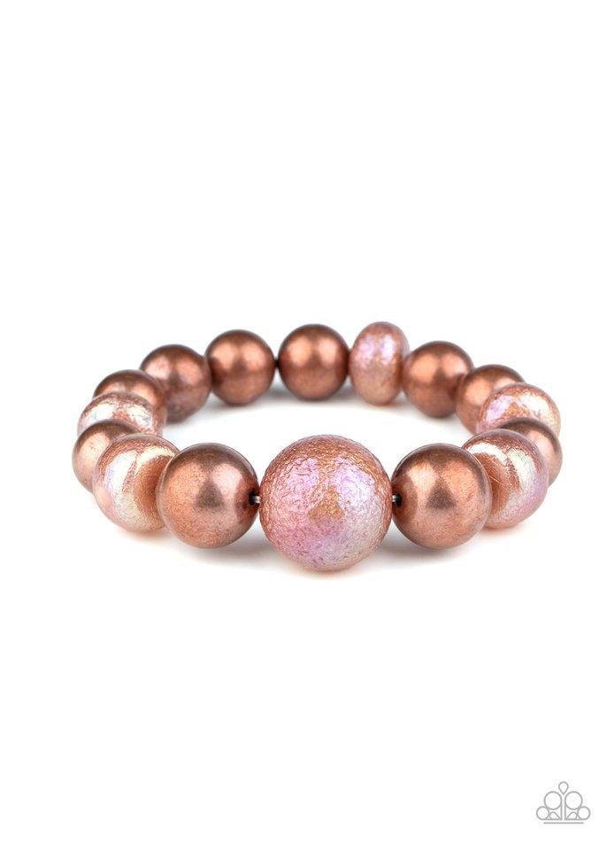Starstruck Shimmer - Copper - Paparazzi Bracelet Image