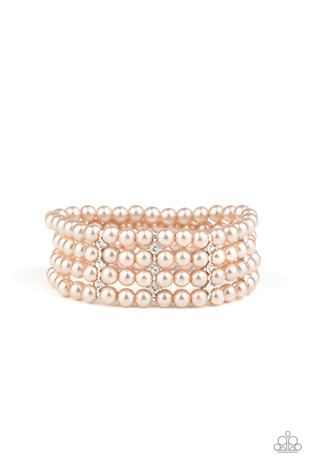 Stacked To The Top - Brown - Paparazzi Bracelet Image