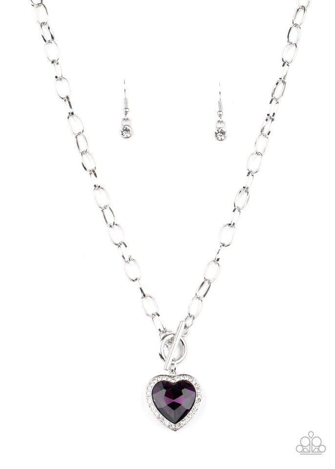 Check Your Heart Rate - Purple - Paparazzi Necklace Image