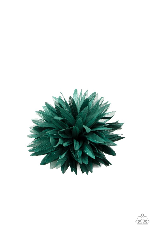 Bloom Baby, Bloom - Green - Paparazzi Hair Accessories Image