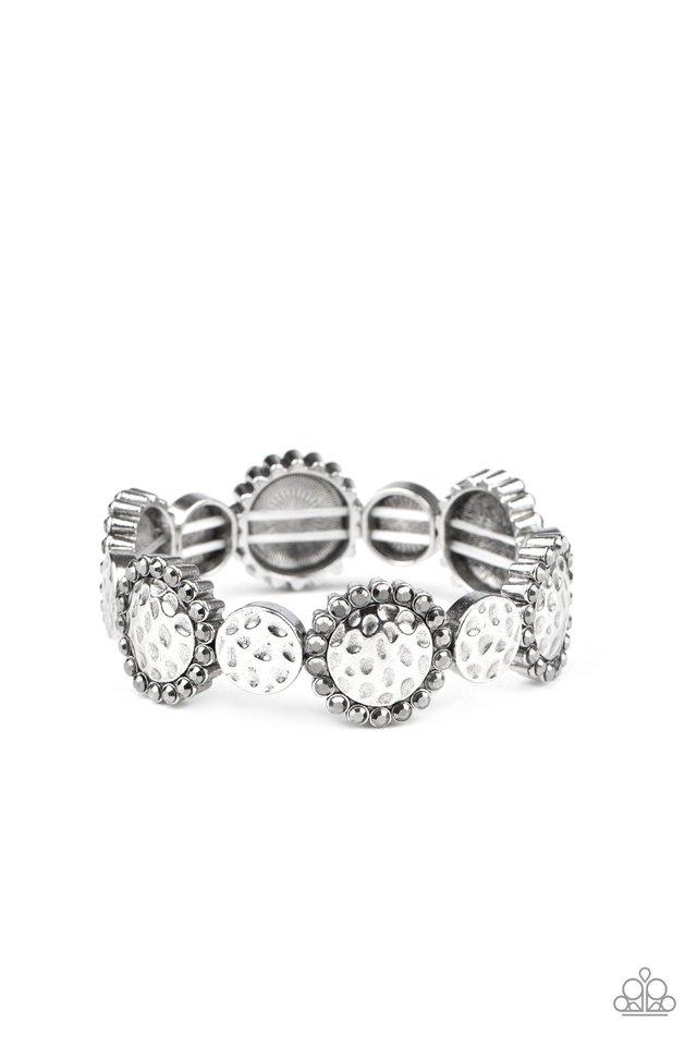 Mixed Up Metro - Silver - Paparazzi Bracelet Image