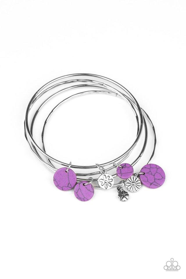 Prairie Plains - Purple - Paparazzi Bracelet Image