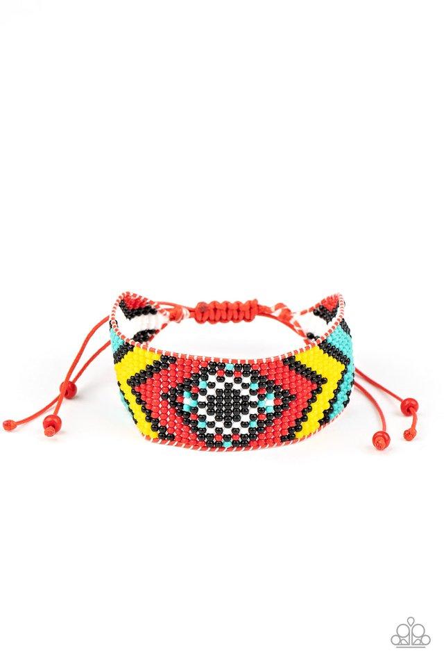 Desert Dive - Red - Paparazzi Bracelet Image