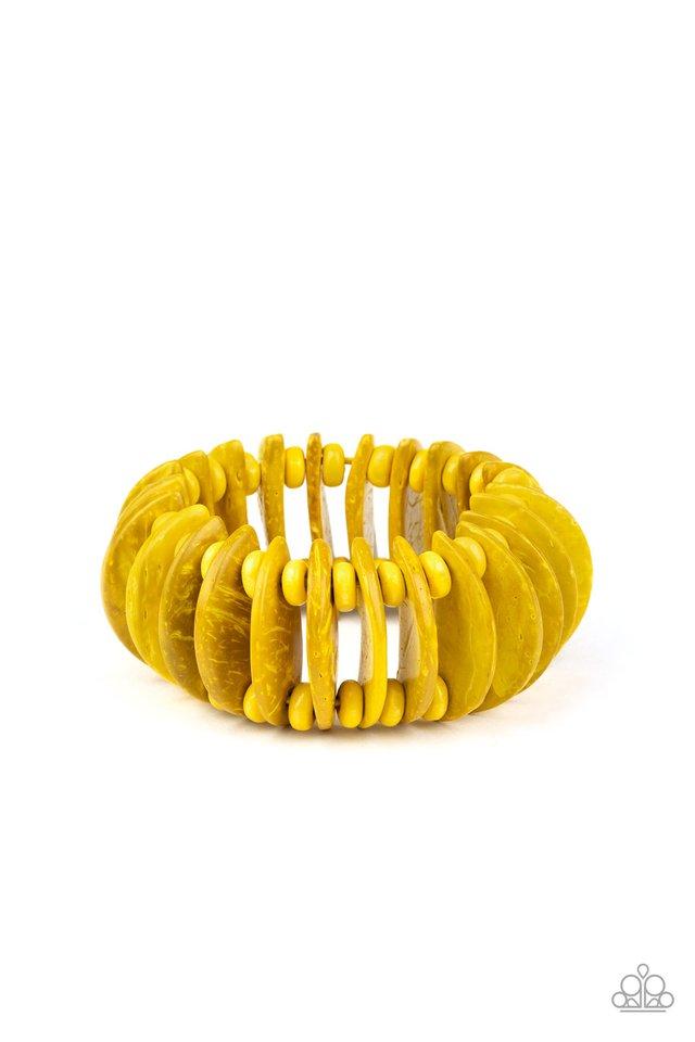 Tropical Tiki Bar - Yellow - Paparazzi Bracelet Image