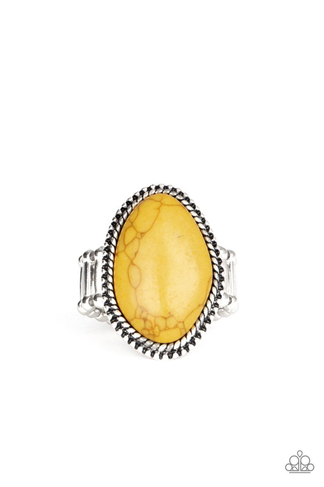 Stone Samba - Yellow - Paparazzi Ring Image