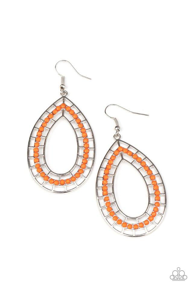 Fruity Fiesta - Orange - Paparazzi Earring Image