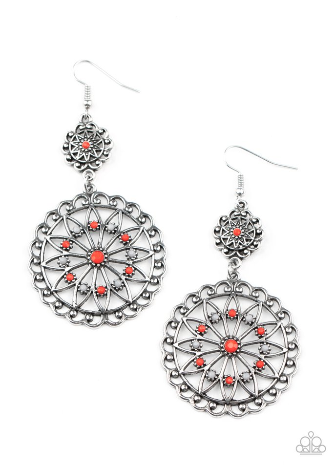 Beaded Brilliance - Red - Paparazzi Earring Image