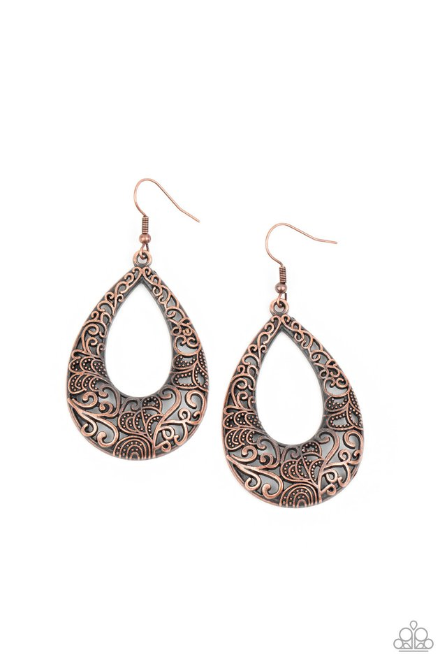 Get Into The GROVE - Copper - Paparazzi Earring Image