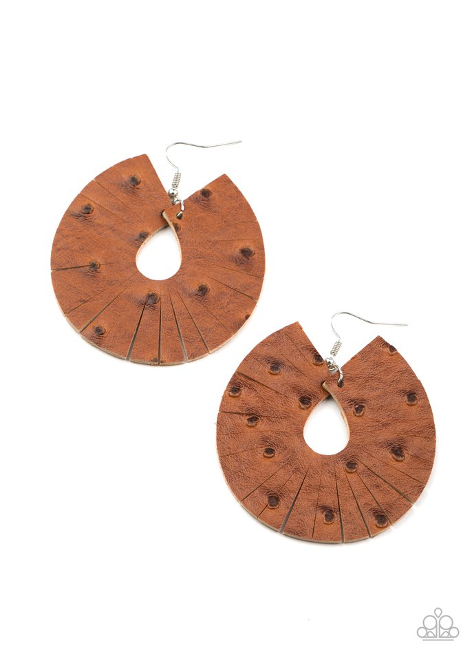 Palm Islands - Brown - Paparazzi Earring Image