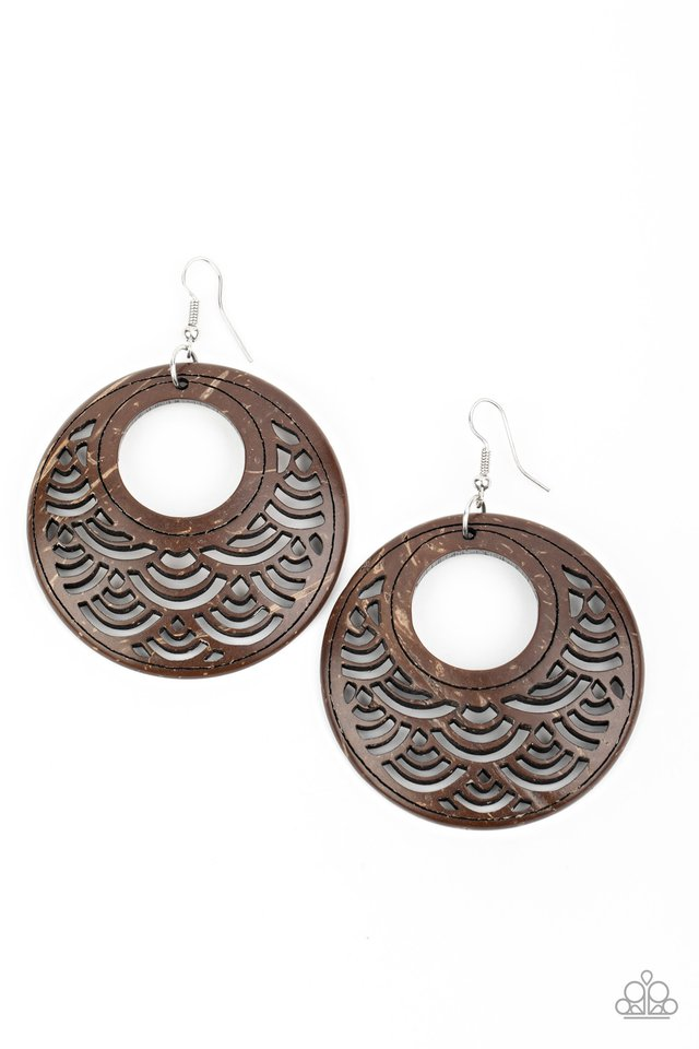 Tropical Canopy - Brown - Paparazzi Earring Image