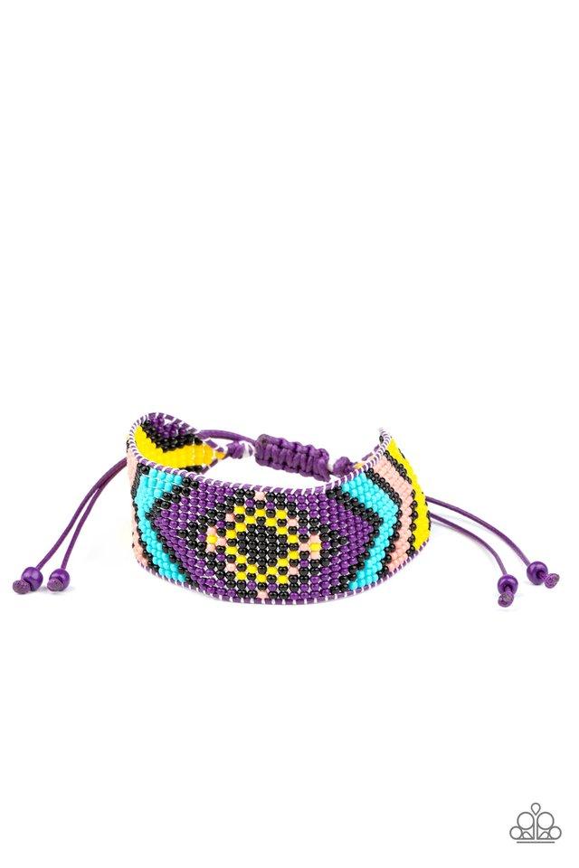 Desert Dive - Purple - Paparazzi Bracelet Image