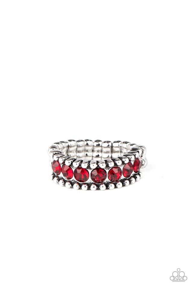 Crank It Up - Red - Paparazzi Ring Image