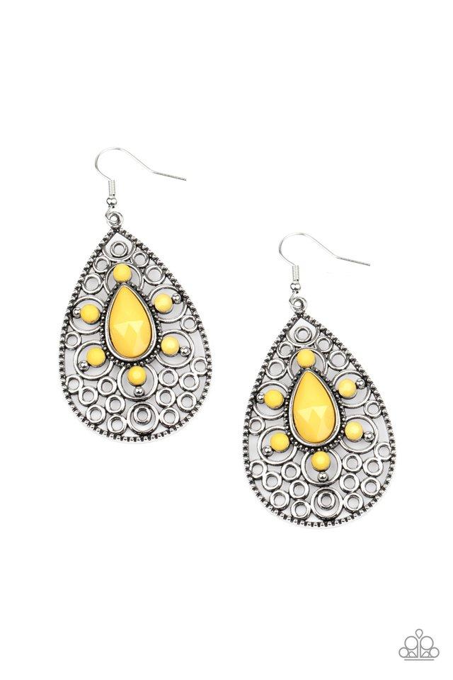 Modern Garden - Yellow - Paparazzi Earring Image