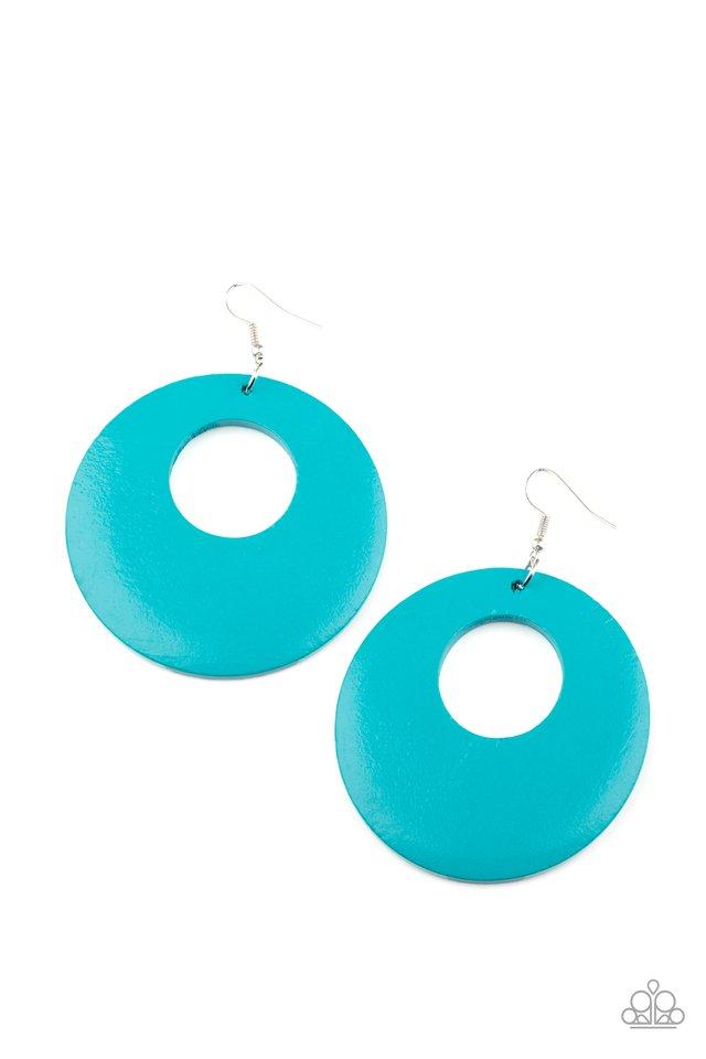Island Hop - Blue - Paparazzi Earring Image