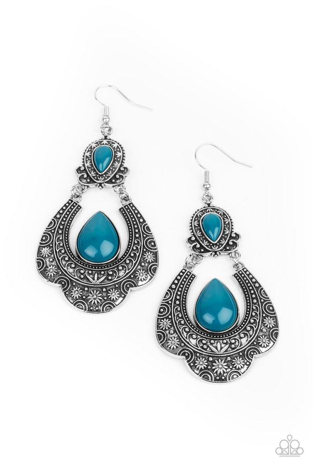 Rise and Roam - Blue - Paparazzi Earring Image