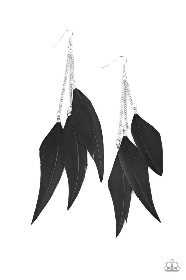 West Side Western - Black - Paparazzi Earring Image