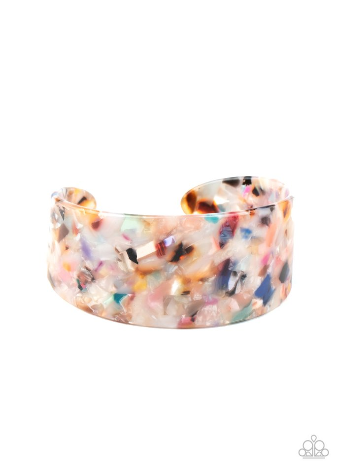 HAUTE Under The Collar - Multi - Paparazzi Bracelet Image