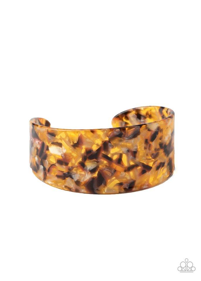 HAUTE Under The Collar - Yellow - Paparazzi Bracelet Image