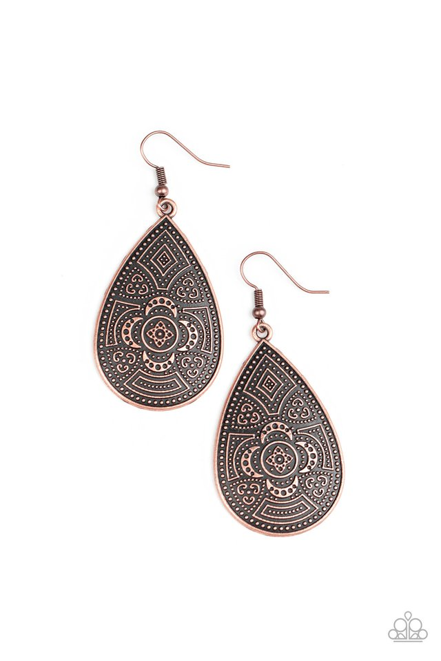 Tribal Takeover - Copper - Paparazzi Earring Image