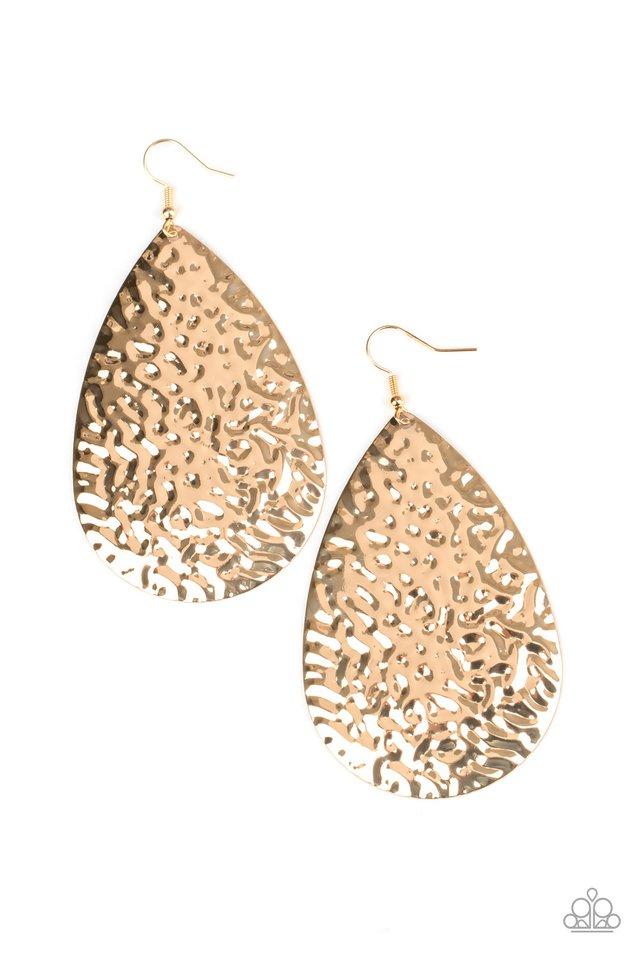 Metallic Mirrors - Gold - Paparazzi Earring Image