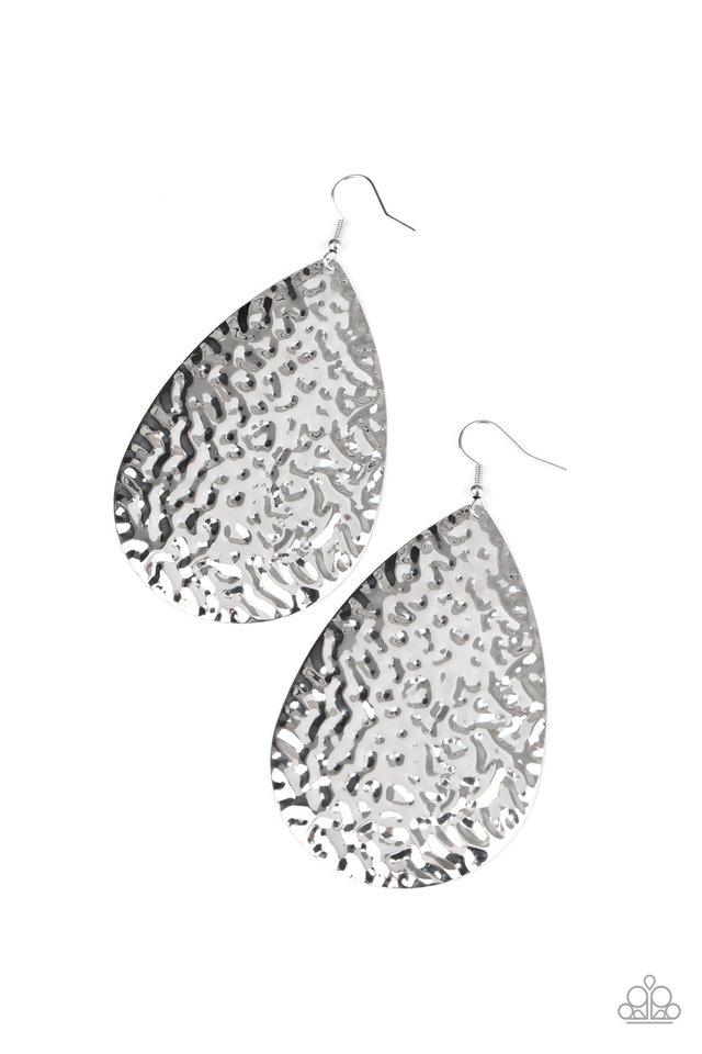 Metallic Mirrors - Silver - Paparazzi Earring Image