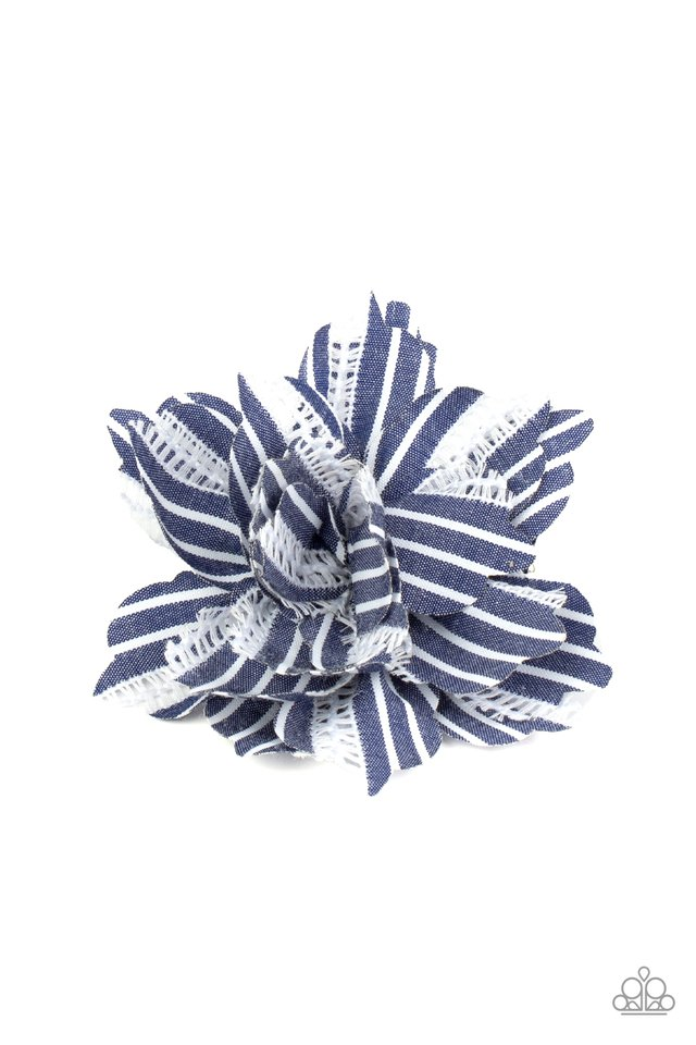 STRIPE For The Picking - Blue - Paparazzi Hair Accessories Image