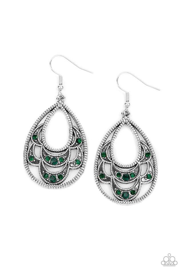 Malibu Macrame - Green - Paparazzi Earring Image