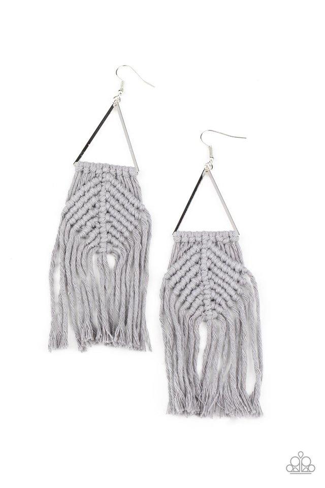 Macrame Jungle - Silver - Paparazzi Earring Image